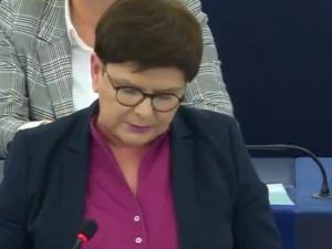 [video] Beata Szydło ostro sprzeciwia się powielaniu fake newsów przez von der Leyen