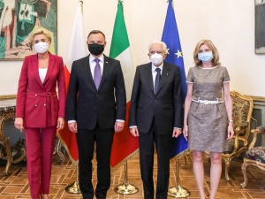 """Andrzej Duda spotkałsięz prezydentem Włoch. """"Wspólnie stawiamy czoła nie tylko pandemii"""""""