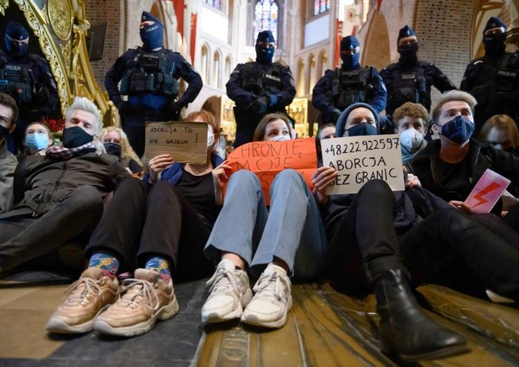 protest w Katedrze Poznańskiej fot. Jakub Kaczmarczyk Konrad Piasecki: