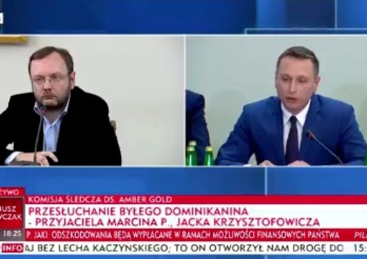 zrzut ekranu Były dominikanin przed komisją ds. Amber Gold.: Katarzyna i Marcin P. byli religijni i wierzący