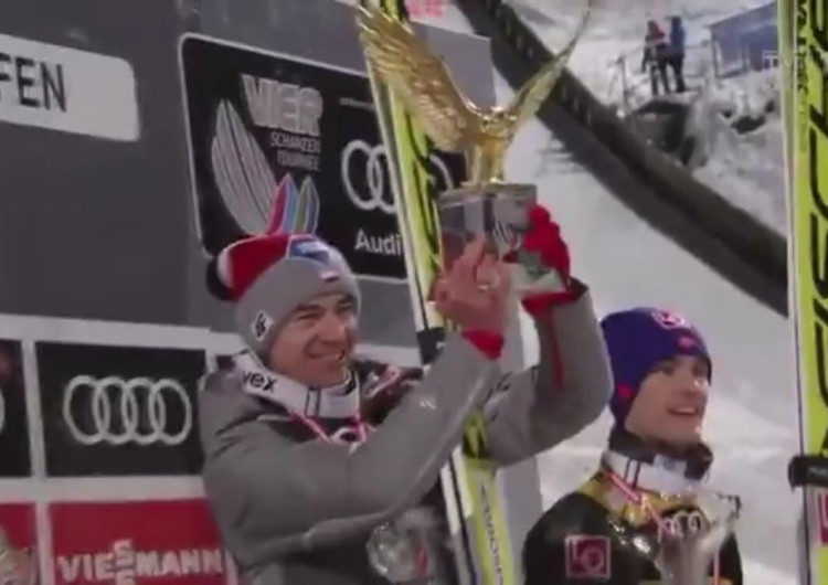 [video] Kamil Stoch triumfuje podczas Turnieju Czterech Skoczni