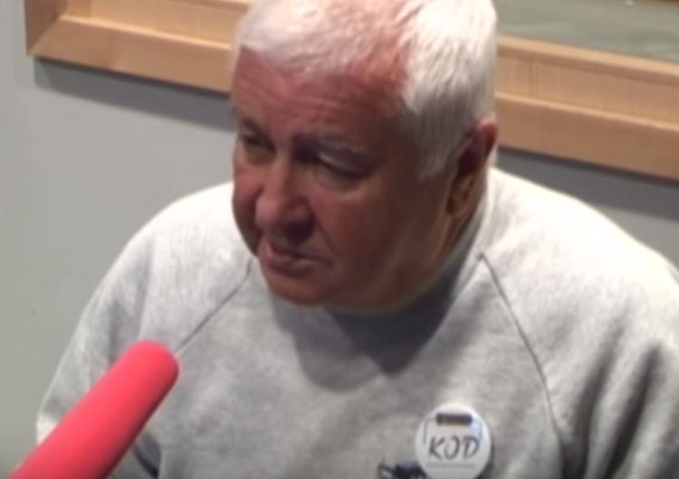 """Krzysztof Łoziński lider KOD: """"Jak by te partie nie dawały D..., i tak musimy na nie głosować""""."""