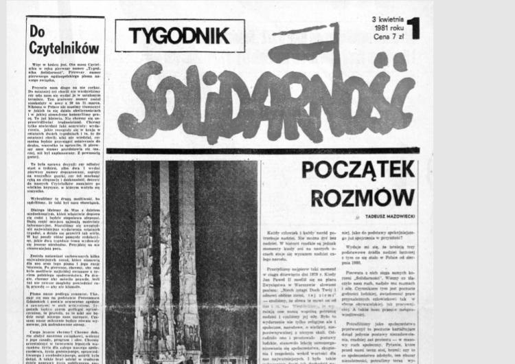 """37 lat temu wyszedł pierwszy numer """"Tygodnika Solidarność"""""""