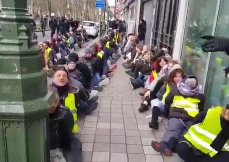 [video] Żółte kamizelki. Masowe aresztowania na ulicach Brukseli