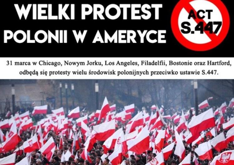 [Relacja na żywo] Protest Polonii amerykańskiej w Chicago