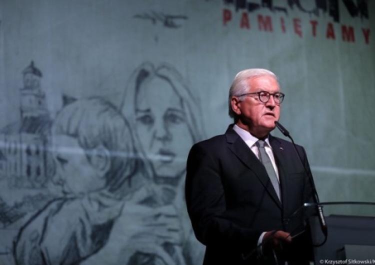 """Wieluń. Prezydent Steinmeier po polsku: """"Chylę czoła przed polskimi ofiarami niemieckiej tyranii..."""""""