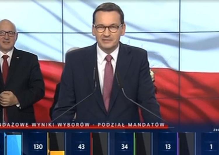 Premier Morawiecki:Te miliony Polaków którzy nam zaufali, to zobowiązanie do spełnienia ich nadziei