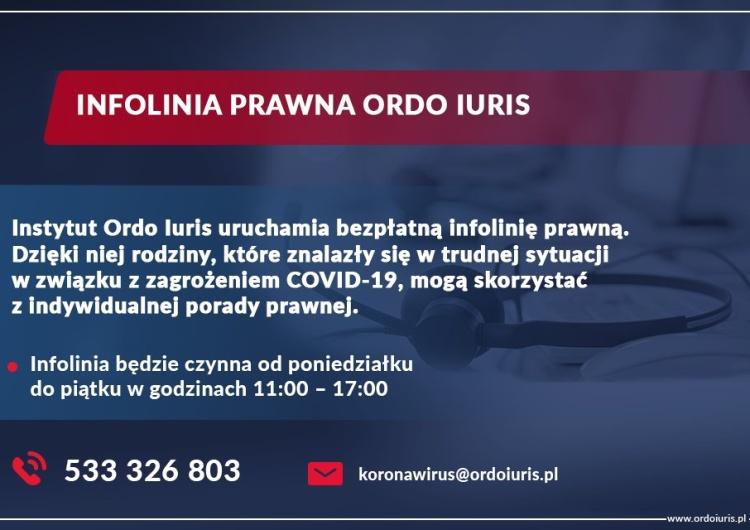 Ordo Iuris uruchomiło infolinię z bezpłatnymi poradami prawnymi w związku z pandemią koronawirusa