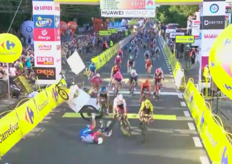 [WIDEO] Makabryczny wypadek na finiszu pierwszego etapu Tour de Pologne