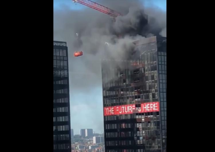 [video] Płonie wieżowiec World Trade Center w Brukseli