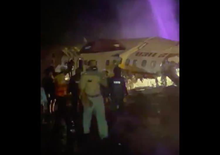 [WIDEO] Indie: Rozbiłsię samolot pasażerski ze 191 pasażerami na pokładzie