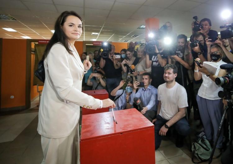"""Białoruś: Cichanouska uznała się za zwyciężczynię wyborów. """"Nie uznaję wyników podanych przez CKW"""""""