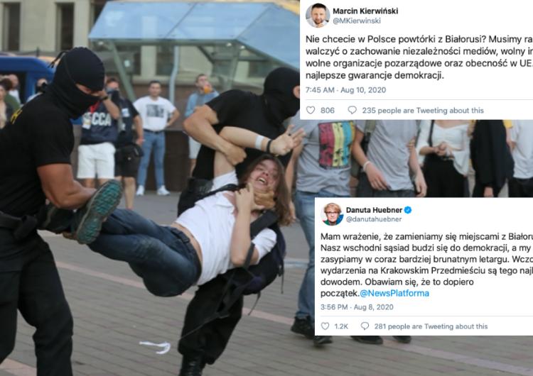 Opozycja gra sytuacją na Białorusi i uderza w polski rząd. Kolejne skandaliczne wypowiedzi polityków...