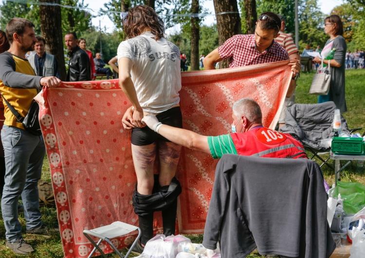 EPA/TATYANA ZENKOVICH [Video] Porażające! Krzyki torturowanych na Białorusi słychać aż na ulicy