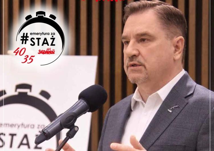 Już jutro Piotr Duda złoży u Marszałek Sejmu projekt ustawy #emeryturazastaż